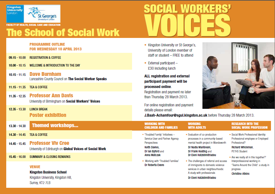 Social Work top 10 business