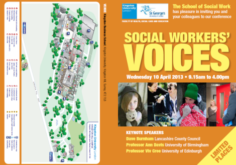 Social Workers' Voices: A one day social work conference at Kingston University